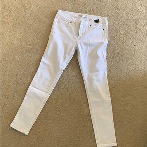 Abercrombie White Skinny Jeans, 6S 28